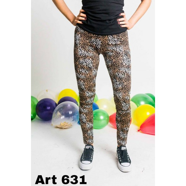 calza lycra estampada animal print marron