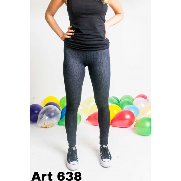 calza simil jean negro